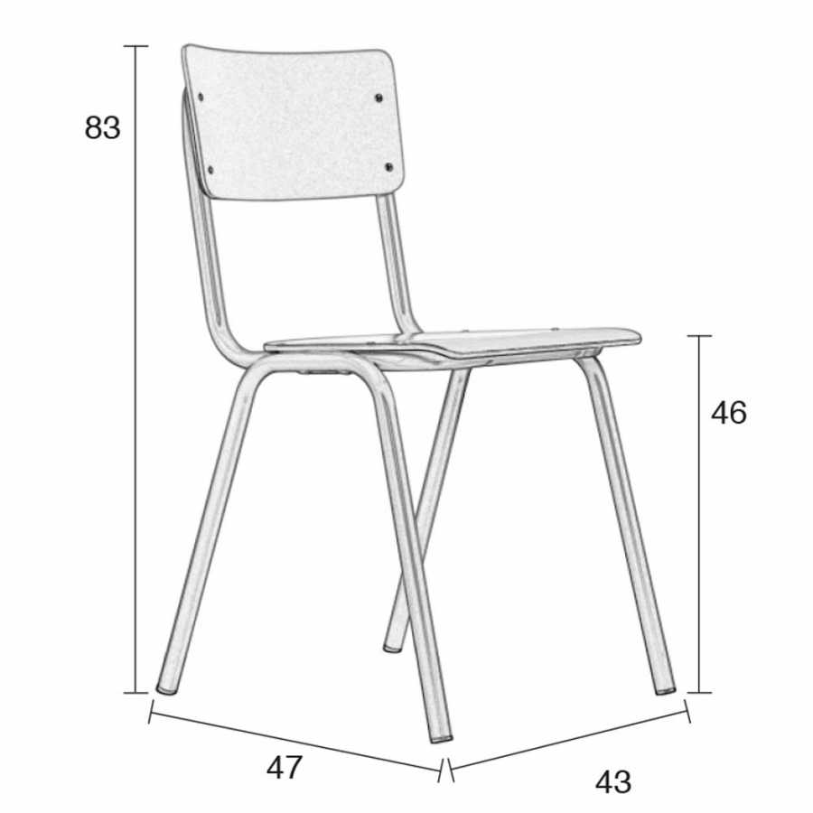 Zuiver Back To School Chairs - Sizes in cm