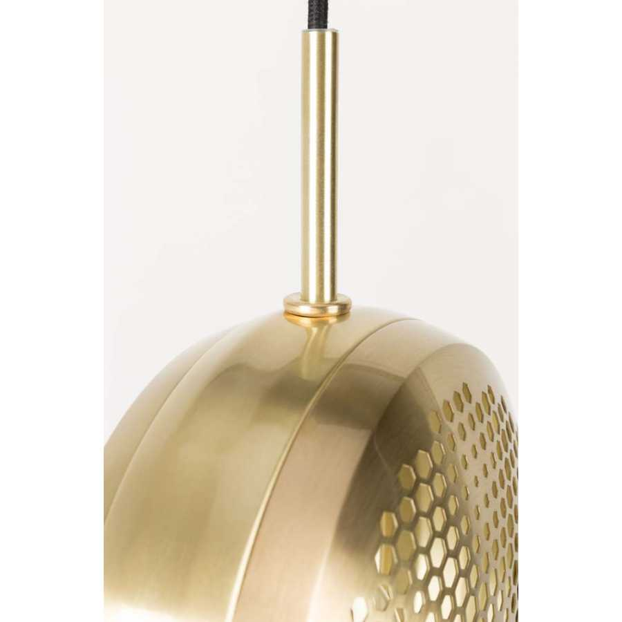 Zuiver Gringo Flat Pendant Lights - Brass