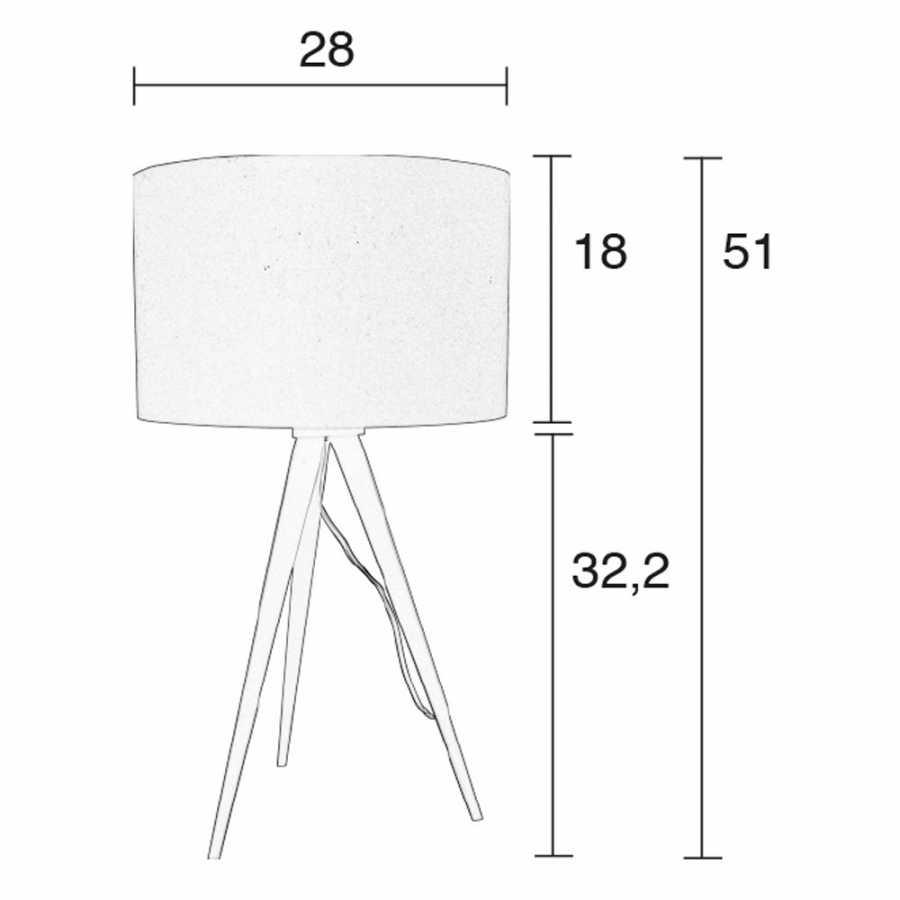 Zuiver Tripod Table Lamp - Diagram