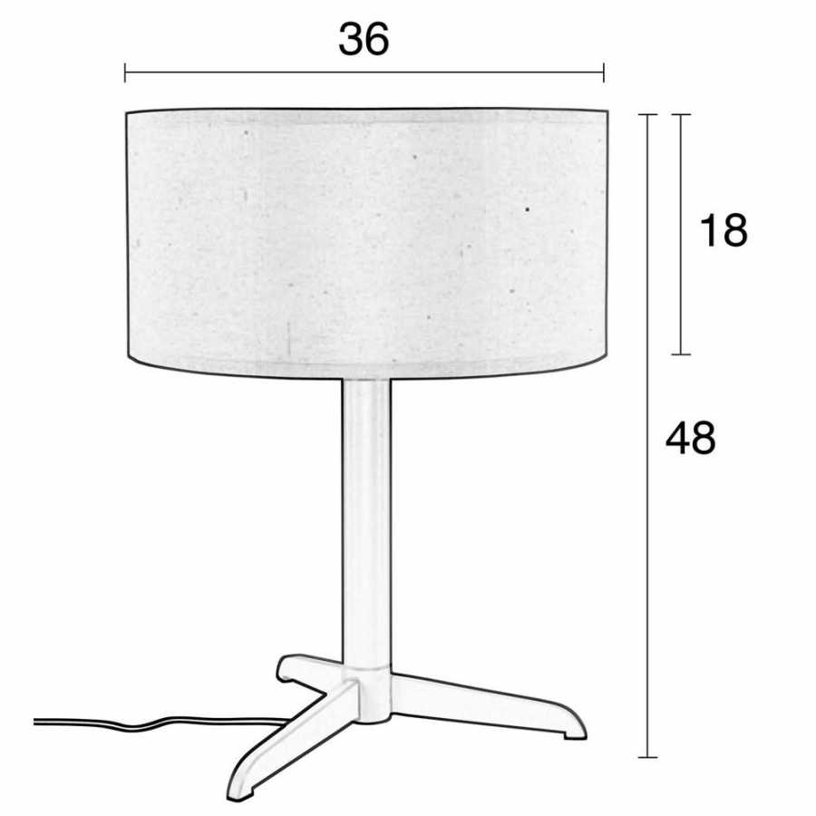 Zuiver Shelby Table Lamp - Sizes in cm