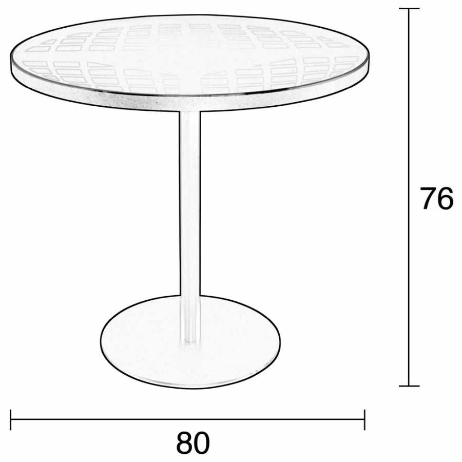 Zuiver Albert Garden Bistro Table - Diagram