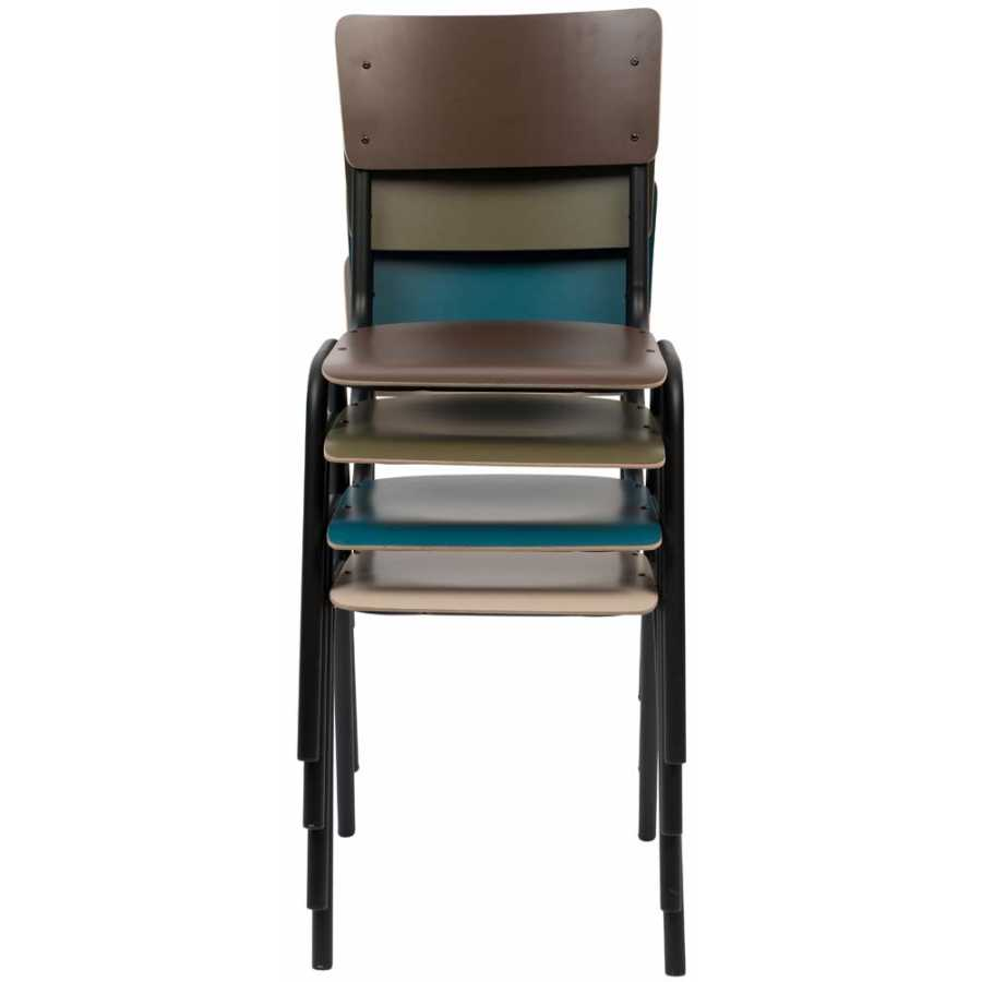 Zuiver Back To School Matte Chair - Petrol