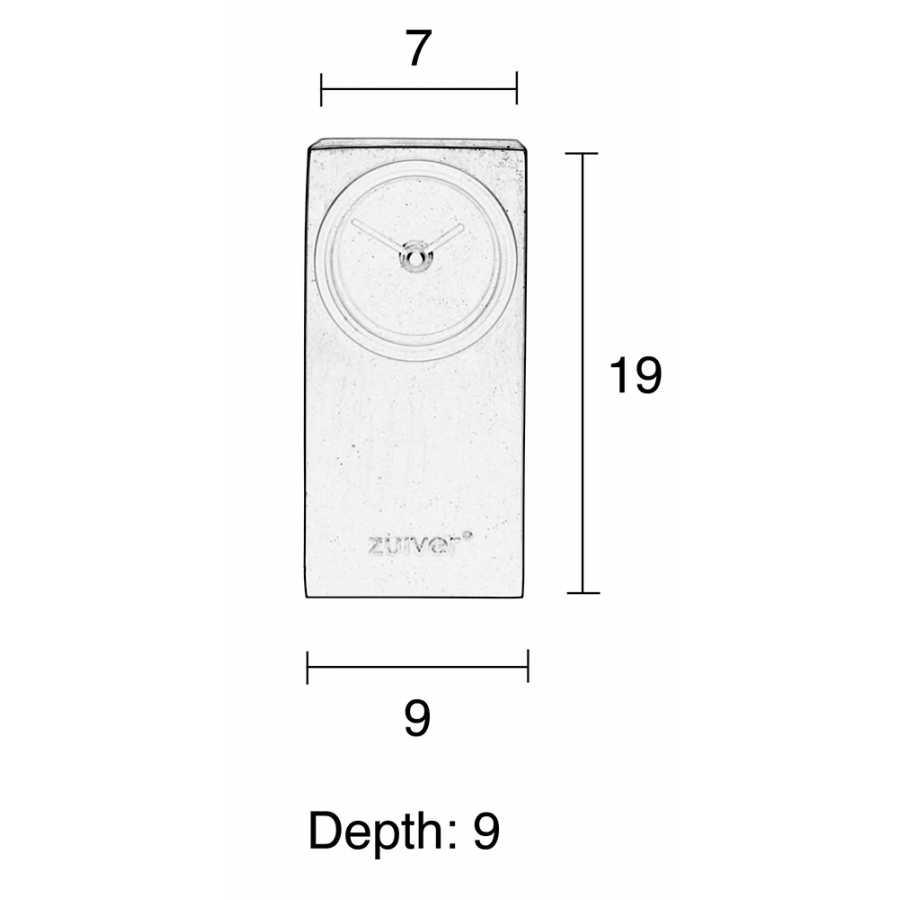 Zuiver Black Brick Table Clock - Sizes in cm