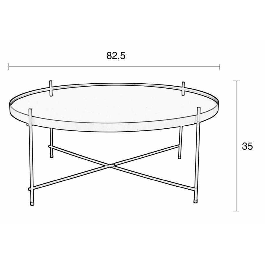 Zuiver Cupid Coffee Table - Extra Large - Sizes in cm