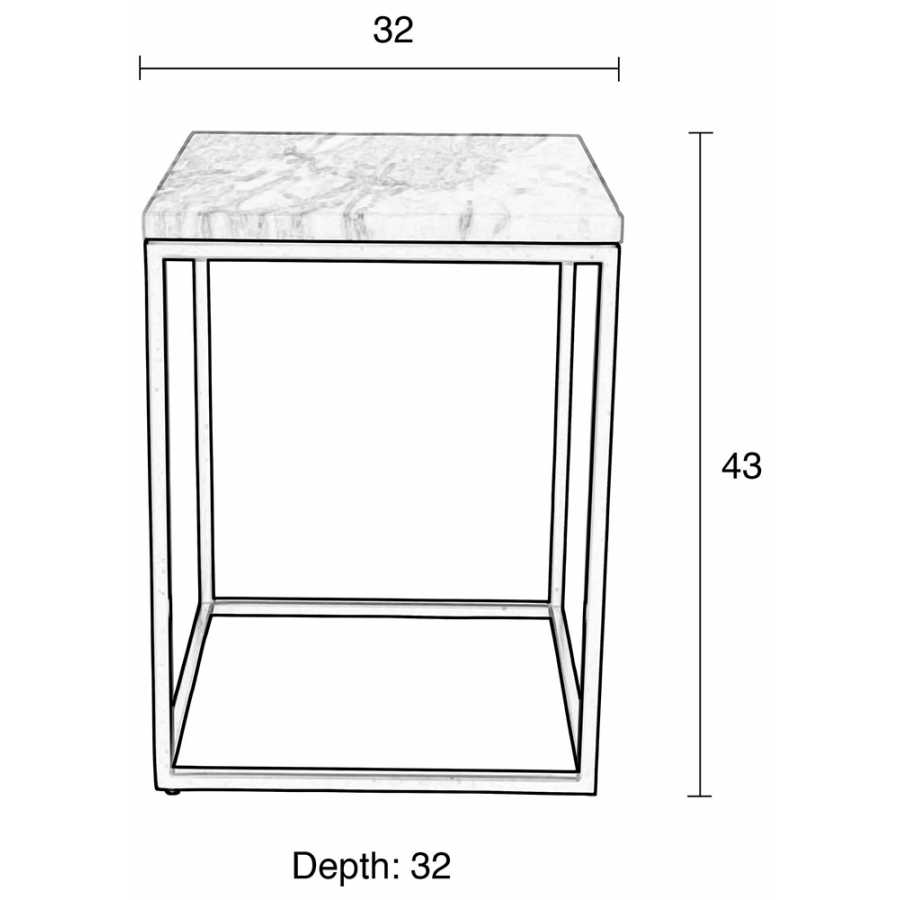 Zuiver Marble Power Side Table - Sizes in cm