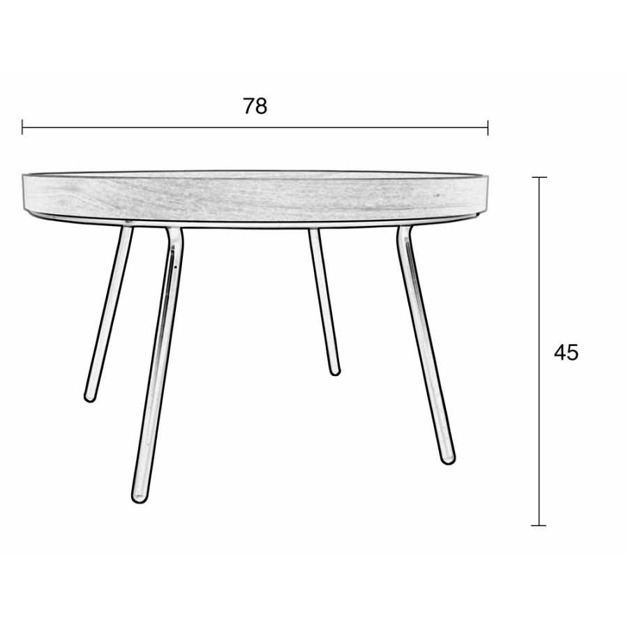 Zuiver Oak Tray Coffee Table - Sizes in cm