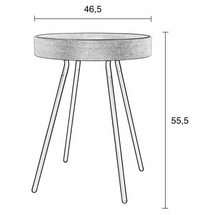 Zuiver Oak Tray Side Table - Sizes in cm