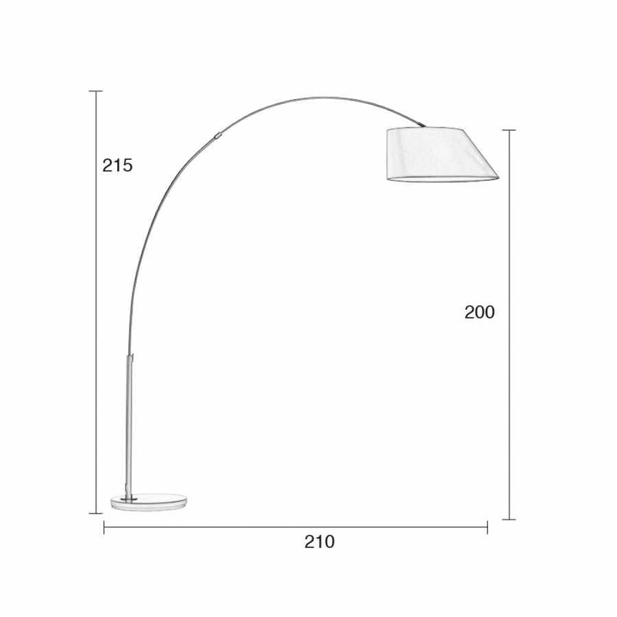 Zuiver Arc Floor Lamp- Sizes in cm