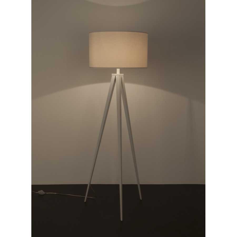 Zuiver Tripod Wood Floor Lamp - White